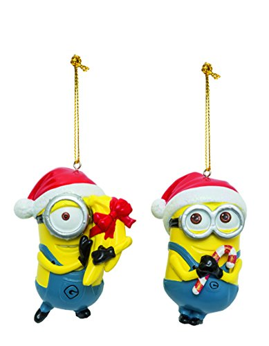 Joy Toy 91142 Minions Despicable Me 2 Christmas Tree Dave and Carl Blow Mold Ornaments