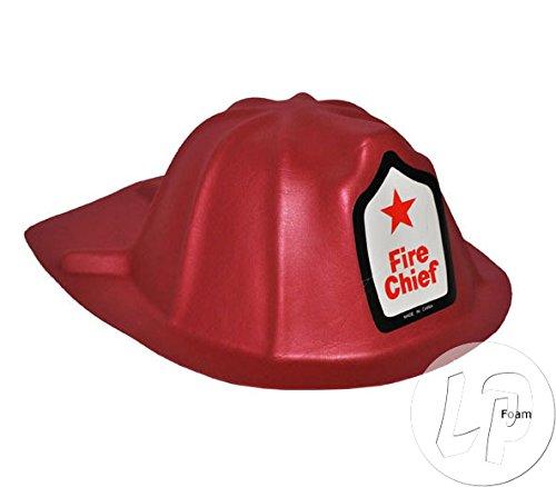 Fiesta Palace - Casque De Pompier en Mousse Eva Fire Chief Rouge
