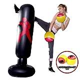 MIKA エアーサンドバッグ エアースタンディングバッグ ボクシング サンドバッグ ストレス解消 エアボクシンググローブが付属しています エクササイズ 自宅用 大人 子供 PVC材質