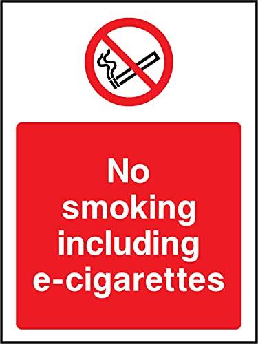 Panneau d'interdiction de fumer avec e-cigarettes