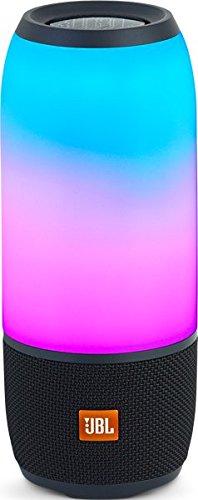 JBL Pulse 3 Speaker Bluetooth, Portatile, Ricaricabile con vivavoce, Waterproof IPX7, Giochi di Luce Personalizzabili, JBL Connect+, Nero