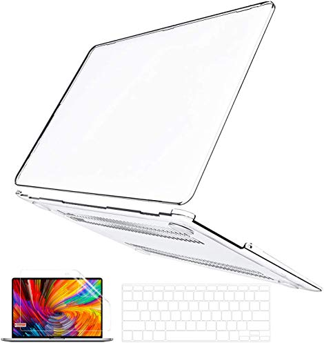 MacBook Air 13 Inch Case 2010-2017 Release Model A1466 A1369, B BELK Ultra Slim Crystal Clear Plastic Hard Shell Cover Case with Keyboard Cover & Screen Protector Compatbile for Apple MacBook Air 13.3