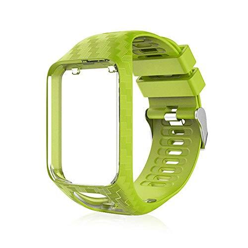 FOONEE Weiches Silikongel Ersatzarmband Armband Sportarmband für Tomtom Runner 2 Runner 3 Golfer 2 Spark 3 Sport GPS Laufuhr (Länge: 240 mm, Breite: 25 mm)
