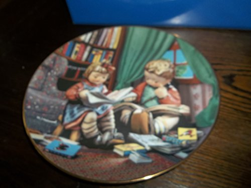 "The Danbury Mint M I Hummel Little Companions Series""Budding Scholars"" Collector Plate -  Little Companions Budding Scholars"