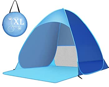 Zenoplige Tente Pop Up, Tente de Camping Pliable, Tente d'extérieur, légère et imperméable (Bleu-Version Améliorée)
