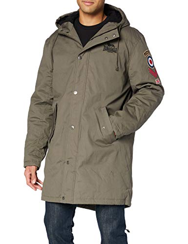 Lonsdale Mens KNUTSFORD Jacket, Olive, Medium