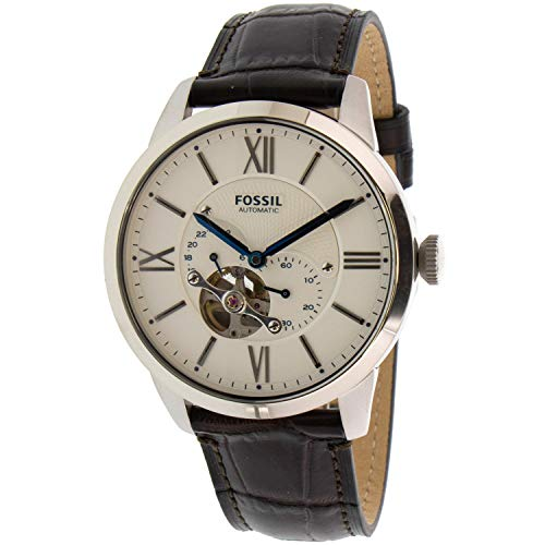 Fossil Men's Townsman ME3167 Silver Leather Japanese Automatic Fashion Watch