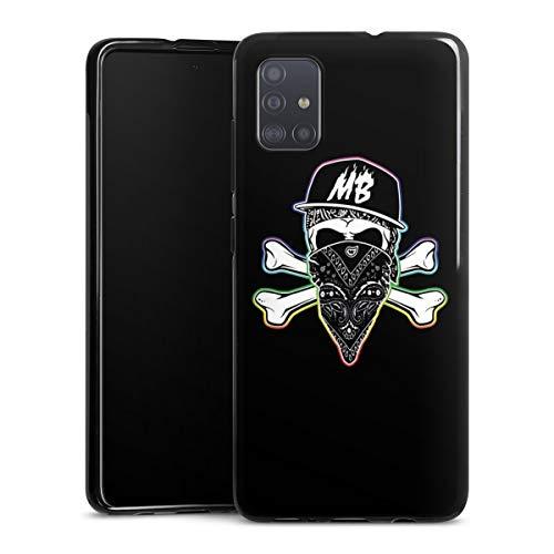 DeinDesign Silikon Hülle kompatibel mit Samsung Galaxy A51 Case schwarz Handyhülle Montanablack Youtuber YouTube