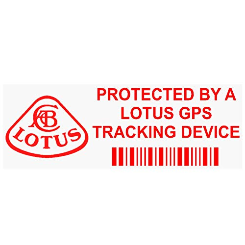 Platina Plaats 5 x PPLOTUSGPSRED GPS ROOD op CLEAR Tracking Device Beveiliging WINDOW Stickers 87x30mm-Auto, Van Alarm Tracker