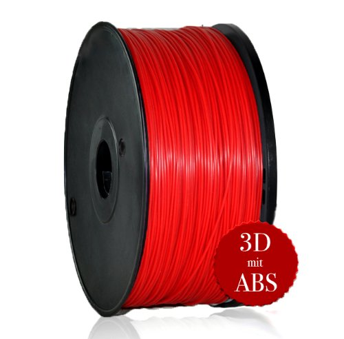 ABS 3D Printer Printer Supplies Filament 1.75 mm 0.07 mm 1 kg Red for 3D Printer