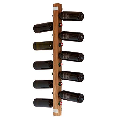 WEINREGALO Eiche   Das Design Wand Weinregal/Flaschenregal aus Holz (Weinregale/Flaschenregale für 11 Flaschen, 100x5x5cm) Weinflaschenhalter ist modern und dekorativ für Wohnzimmer und Küche