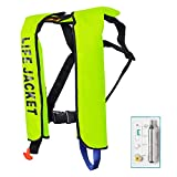 MOCOTONO Inflatable Life Jacket, Automatic/Manual Inflatable PFD Life Vest for Adults,Auto Green