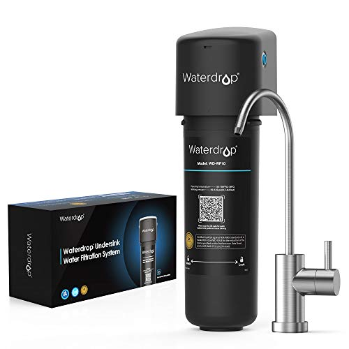 Waterdrop 10UB Under Sink Water Filter System, NSF/ANSI 42 Certified, with Dedicated Faucet, 8K Gallons High Chlorine Reduction Capacity, Idea for Renting, USA Tech