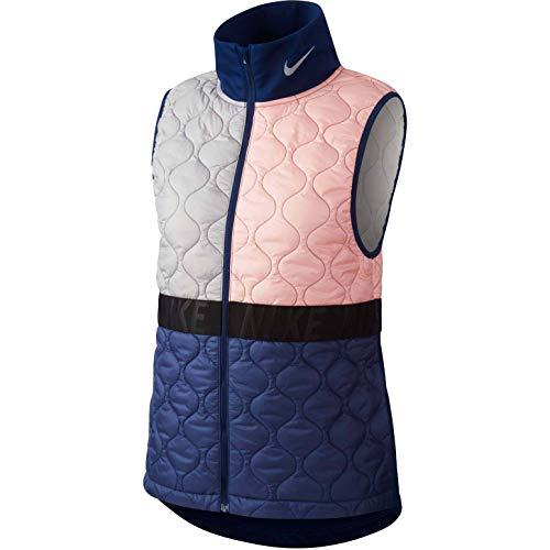Nike AeroLayer Women's Running Vest (Bleached Coral/Blue Void/Atmosphere Grey, Medium)