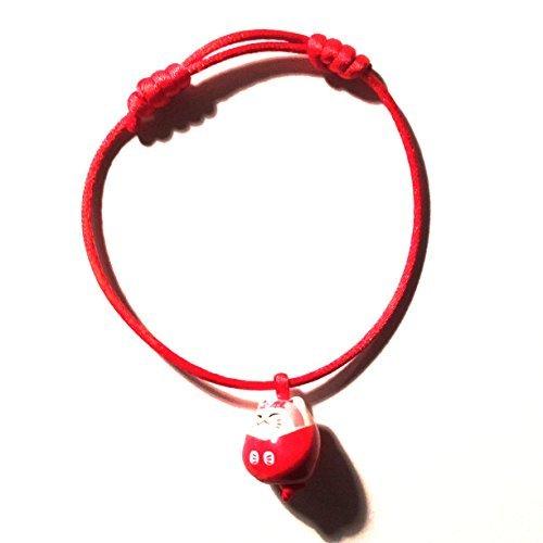 1 Bracelet Kawaii Maneki Neko Porte-Bonheur Chat Japonais akai ito Fil Couleur aleatoires asorties...