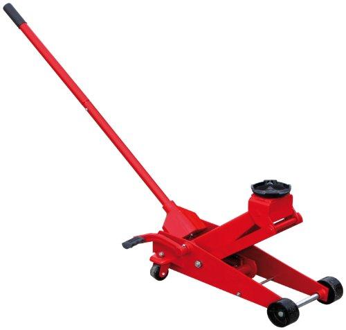 Unitec 10026 Werkstatt Wagenheber, Hydraulik, bis zu 3 T Tragkraft, Hubhöhe von 145-500 mm, gefertigt aus Qualitätsstahl