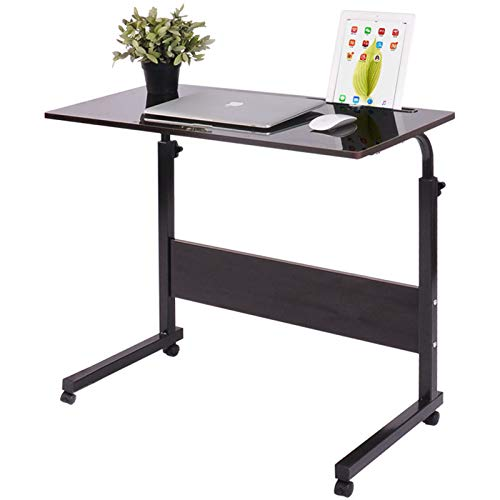 Qiveno Mobile Sofa Side End Table Laptop Holder Adjustable Height Stand Desk Coffee Tray Side Table Notebook Tablet Portable Workstation for Home Office Studying Reading Breakfast Large