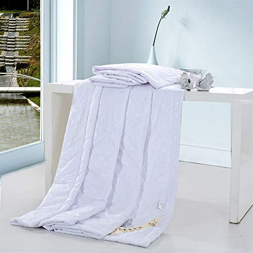 HOUMEL Verano edredón 4.5 TOG Simple/Doble/Rey edredón - Lavable a máquina - 100% algodón Lanza for el sofá Tiro de la Cama Manta 012 (Color : D, Size : Single)