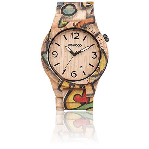 WEWOOD Unisex Analog Quarz Uhr mit Holz Armband WW53001