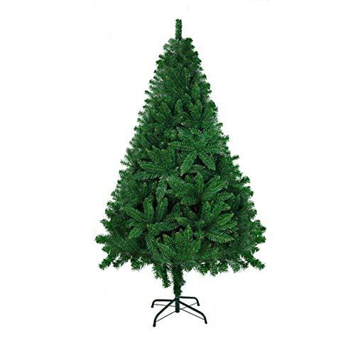 LOKIPA Árbol de Navidad artificial de 1,8 m con 700 puntas verde árbol de Navidad y soporte de metal fuerte (verde)