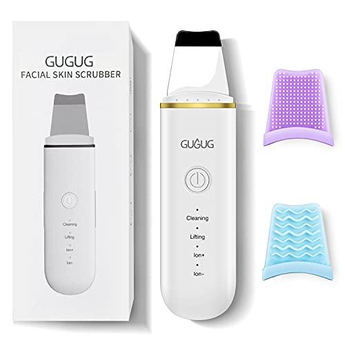 Skin Scrubber – Ultraschallpeelinggerät mit 4 Modi, Hautspatel, Mitesser-Entferner, Porenreiniger, Gesichtswaschspatel, Akne-Entferner, Hautreiniger für die Tiefenreinigung
