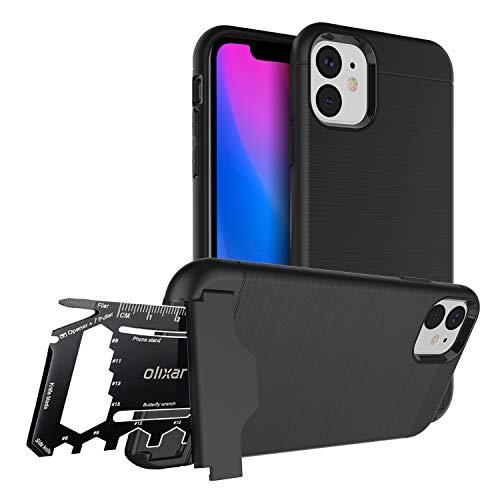 Olixar - Carcasa para iPhone 11 (multiherramienta, 26 en 1, función de supervivencia multiherramienta), color negro