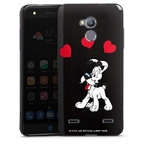 DeinDesign Silikon Hülle kompatibel mit ZTE Blade V7 lite Hülle schwarz Handyhülle H& Asterix Obelix