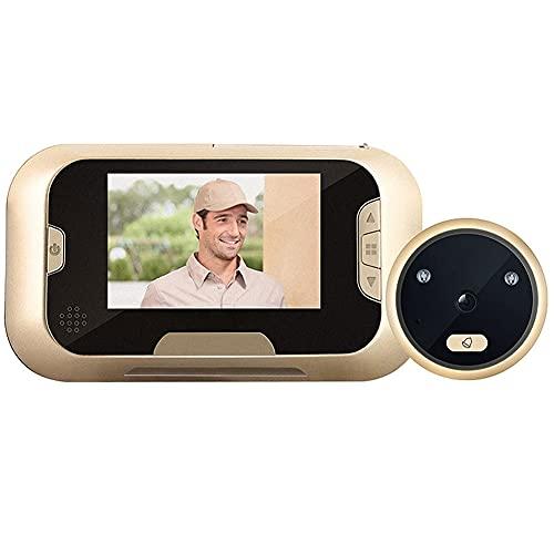 BAOZUPO Video Timbre Home HD Cámara de vigilancia electrónica Espejo de Puerta de Seguridad de visión Nocturna Inteligente