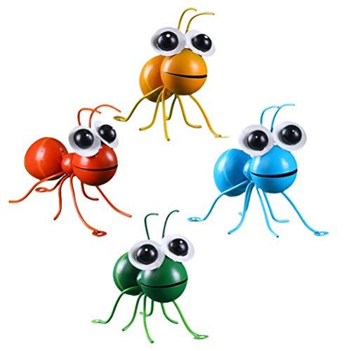 Angoily 4 Unids Metal Hormiga Decoraciones de Pared Hierro Insecto Arte de La Pared Escultura Vintage Rústico Jardín Hogar Colgante de Pared Adornos Adornos