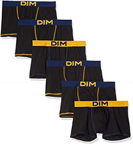 Dim Boxer Mix and Colors X6, Multicolore (Noir CT Bleu Marin/Noir CT Jaune Safran/Noir CT Bleu Marin 8vz), XL (Lot de 6) Homme