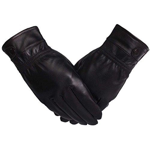 Huixin Guantes De Cuero Para Calzado De Outdoor Hombres. Conducción Sección De...