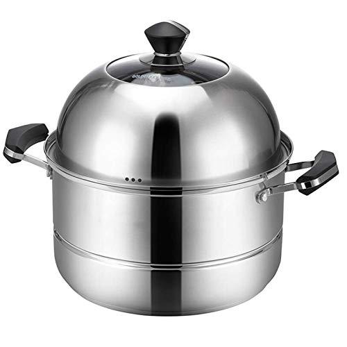 HIZLJJ Inoxidable Stee Vapor cocinando el pote, Olla de arroz, Doble Boilder, Montón, Vapor Sopa Pot y Vapor