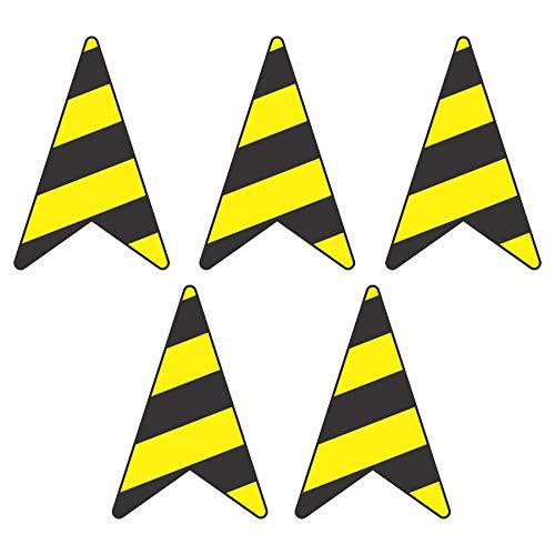 Set Hochwertige Fussbodenaufkleber Pfeile | Richtungspfeile | 30 x 20 cm | Fußbodenaufkleber Bodenaufkleber Bodensticker Aufkleber | stabile Folie mit UV-Schutz von intervisio