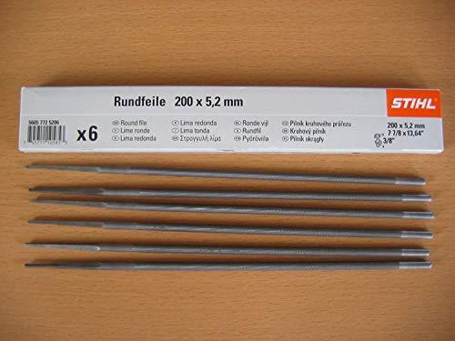 Stihl Lima redonda 6 unidades para cadenas de sierra, de 5,2 mm, para 0,95 cm (5605 771 5206)
