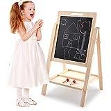 Chyuanhua Caballete Infantil Los Niños Lateral Doble De Madera De Aprendizaje Pintura De Caballete Pizarra For Niños con Altura Ajustable Apto para Niños (Color : White, Size : One Size)