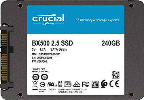 『【Amazon.co.jp 限定】 Crucial SSD 240GB 7mm / 2.5インチ BX500シリーズ SATA3.0 3年保証【PlayStation4 動作確認済】 正規代理店保証品 CT240BX500SSD1Z [FFP]』の9枚目の画像
