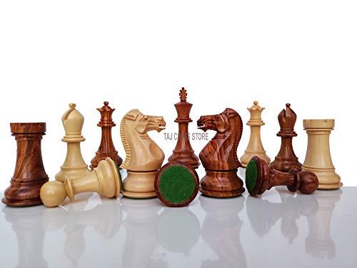Desconocido Generic Piezas de ajedrez Staunton Profesionales de 4.1  'Solamente - 2 Reinas adicionales   Piezas de ajedrez de Madera artesanales de Primera Calidad - Tienda de ajedrez Taj