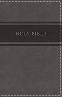 KJV, Deluxe Gift Bible, Leathersoft, Gray, Red Letter Edition, Comfort Print: Holy Bible, King James Version