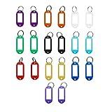 .llavero viene con la etiqueta intercambiable (20 Unidades),plástico con etiquetas Etiqueta de y llavero metal