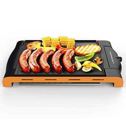 Huishoudelijke Smokeless Barbecue Tray Electric Oven Koreaanse Iron Plate Barbecue bakplaat Non-stick Smokeless afneembaar en gemakkelijk te reinigen ZHANGKANG