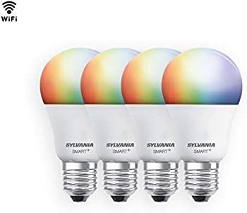 4-Pack Sylvania 60W Smart+ WiFi Full Color Dimmable A19 LED Light Bulb