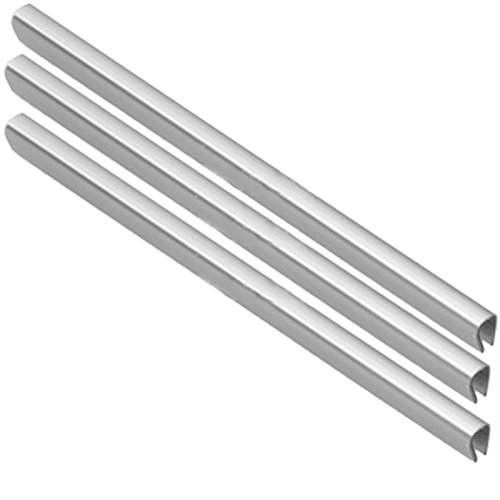 spares2go Untere Schublade Korb Besatz für hotpoint-ariston Kühlschrank Gefrierschrank (Silber, 3Stück)