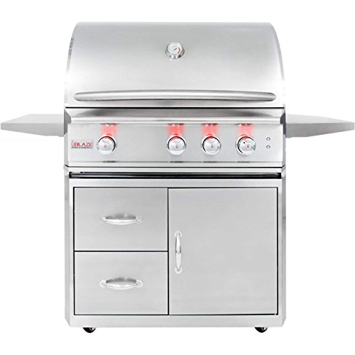Blaze 34-inch Professional Grill with Rear Infrared Burner (BLZ-3PRO-LP-BLZ-3PRO-CART), Propane Gas Grills Propane