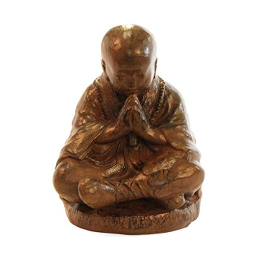 KOH DECO Statue Moine Shaolin 50 cm - Brun