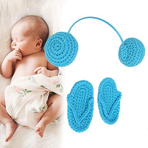 赤ちゃんの小道具の写真、新生児の写真の小道具0〜3か月の赤ちゃんの写真の写真のための幼児のためのかわいい素晴らしい贈り物(blue)