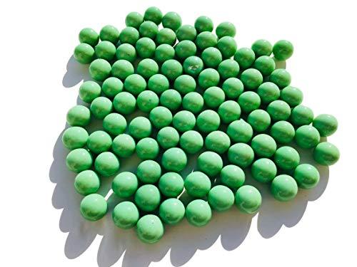 CRYSTAL KING Grüne Matt Grün Glasmurmeln Glaskugeln 16mm Durchmesser 500gr Dekokugeln Murmeln Murmel grün farbene Murmel Dekoglaskugel Dekoration Glaskügelchen