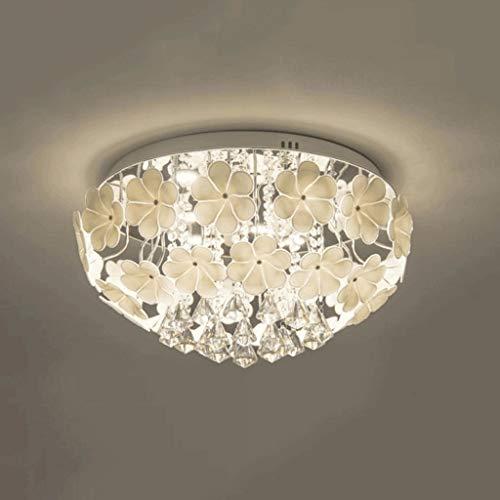 Duurzame Plafondlampen Europese Luxe Kristallen Hanger Plafondlamp, Creatief Glas Bloem Lantaarn, Warm Pastorale Woonkamer Restaurant Decoratie Verlichting Plafondlampen (Maat: S-40cm), Kleur:L-50c
