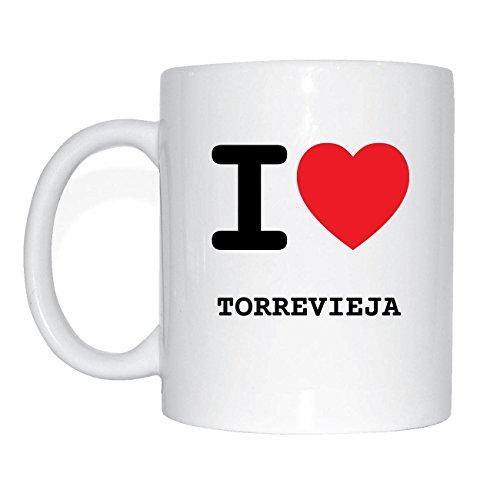 JOllify TORREVIEJA Kaffeetasse Tasse Becher Mug M3659 - Farbe: weiss - Design 1: I love - Ich liebe