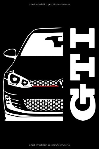 Golf VII 7 GTI Turbo 16V Notizbuch Tagebuch mit Punktraster: Golf 7 GTI Notizbuch Notizblock Notebook 120 Seiten A5