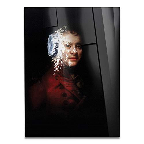 Giallobus - Schilderij - Klaar om op te hangen - Afdrukken op Acrylglas Plexiglas - Banksy - Gezichtscake - moderne schilderijen home design meubels - slaapkamer - diverse maten XXL - 50x70 cm